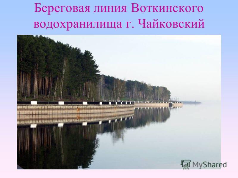 Береговая линия Воткинского водохранилища г. Чайковский