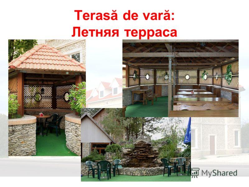 Terasă de vară: Летняя терраса