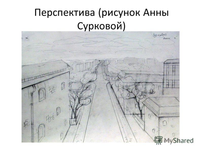 Перспектива (рисунок Анны Сурковой)