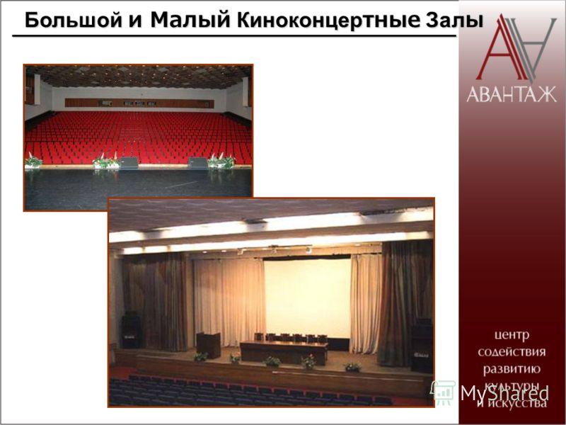 Большой и Малый Киноконцертные Залы Большой и Малый Киноконцертные Залы____________________________________
