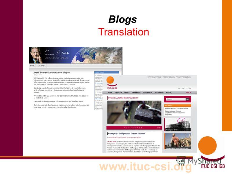 www.ituc-csi.org Blogs Translation