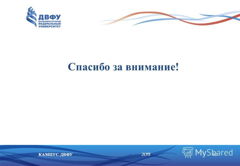201140КАМПУС ДВФУ Спасибо за внимание!