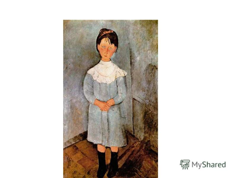 Амадео Модильяни «Девочка в голубом»