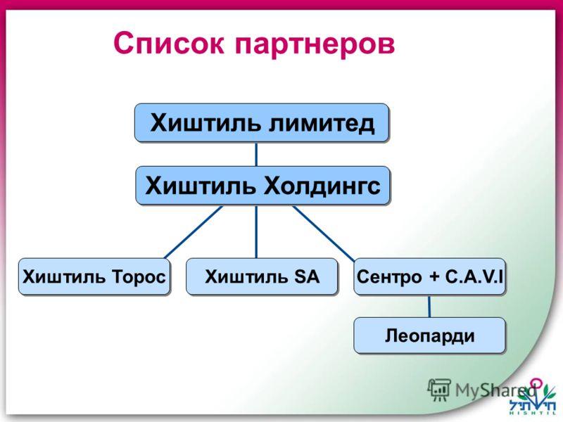 Список партнеров Хиштиль лимитед Сентро + C.A.V.I Хиштиль Холдингс Леопарди Хиштиль Торос Хиштиль SA