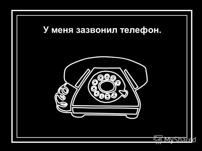 У меня зазвонил телефон.