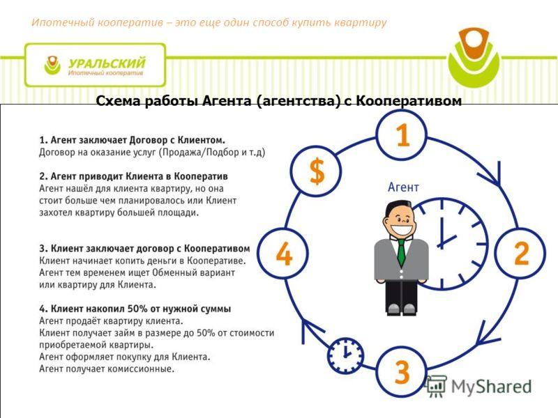 Ипотечный кооператив – это еще один способ купить квартиру Схема работы Агента (агентства) с Кооперативом