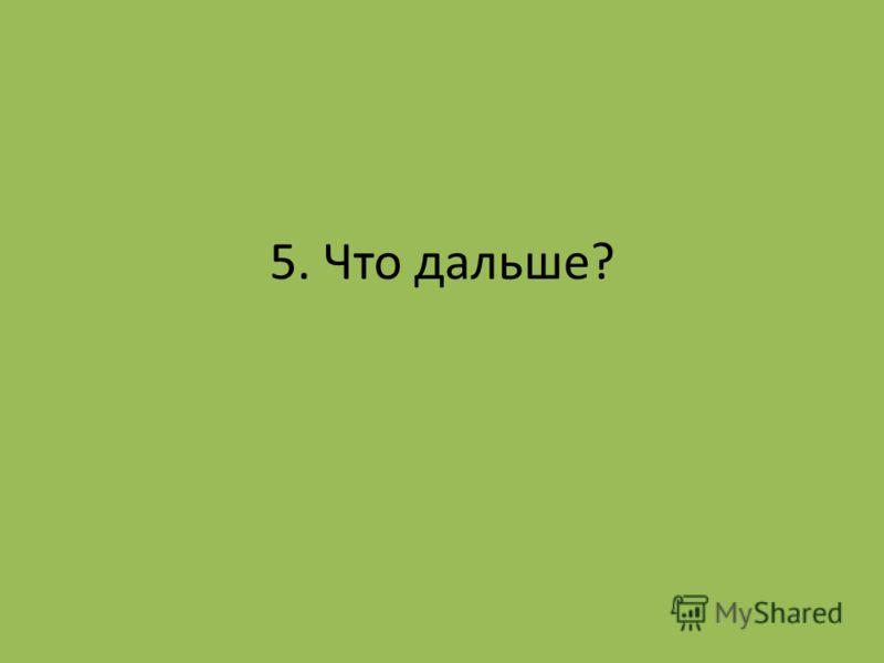 5. Что дальше?