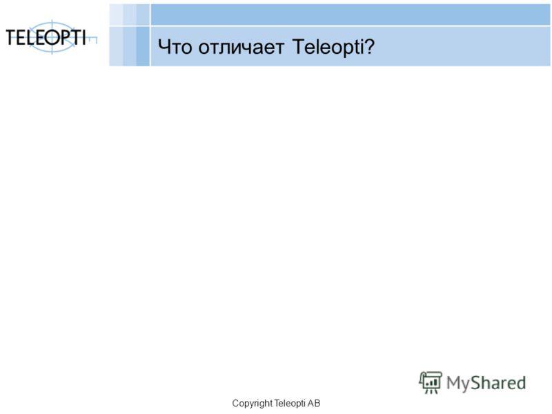 Copyright Teleopti AB Что отличает Teleopti?