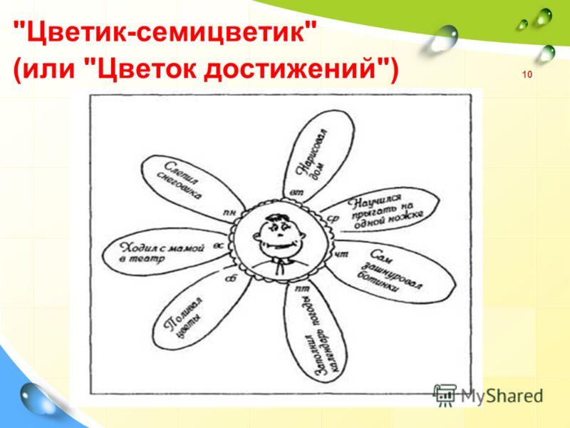 Цветик-семицветик (или Цветок достижений) 10