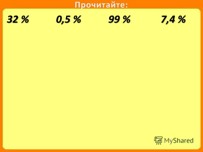 32 % 0,5 % 99 % 7,4 %