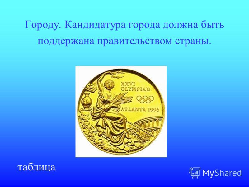 Кому, согласно Олимпийской хартии, предоставляется честь организации Олимпийских игр: городу или стране? ответ