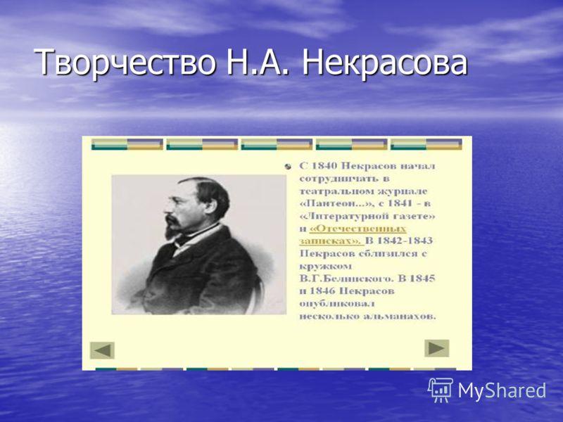 Творчество Н.А. Некрасова