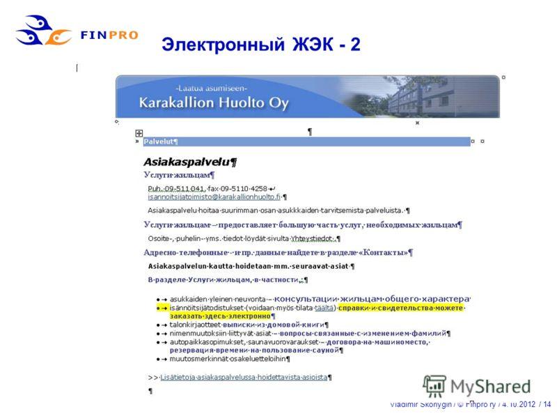Vladimir Skorlygin / © Finpro ry / 21.7.2012 / 14 Электронный ЖЭК - 2