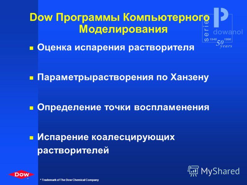 * * Trademark of The Dow Chemical Company Директива по ЛОВ в Европе Основная информация n Ограниченная эмиссия, не применение. n Применяется к особым процессам и установкам. n ЛОВ определяется по давлению паров ( >0.1mbar).