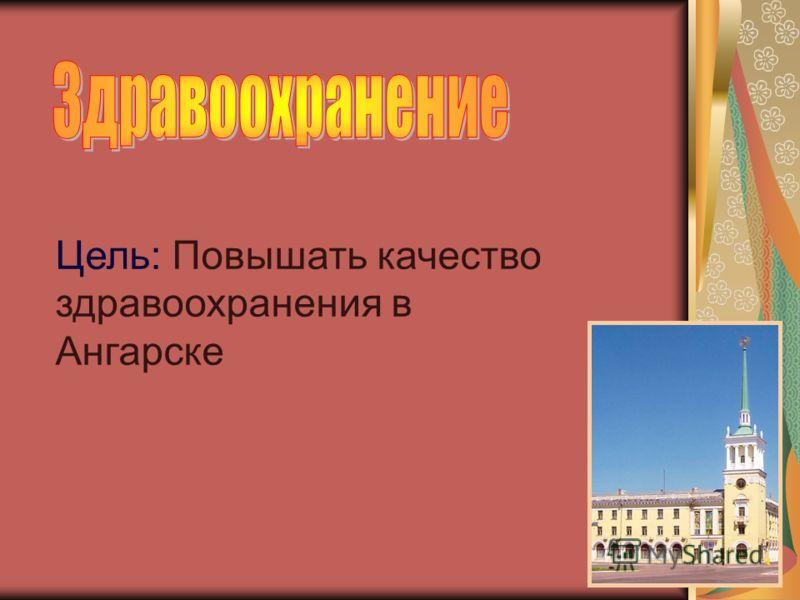 Цель: Повышать качество здравоохранения в Ангарске