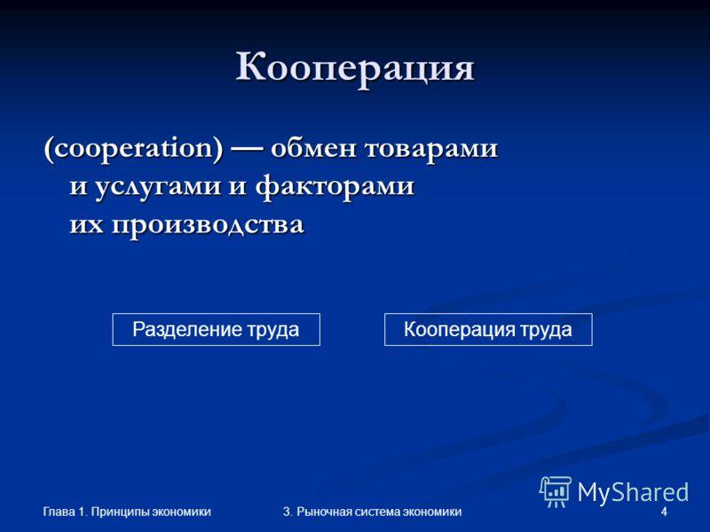 Глава 1. Принципы экономики 33. Рыночная система экономики Виды разделения труда ОбщееОбщее Международное Межрегиональное частноечастное единичноеединичное Функциональное географическоегеографическое