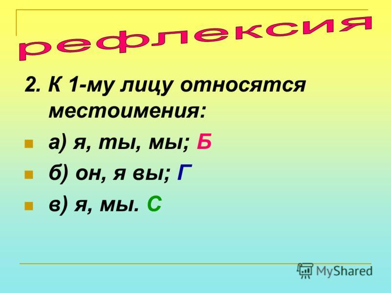 1. Что такое местоимение? Часть речи, которая: а) называет предметы; К б) указывает на предметы, не называя их; У