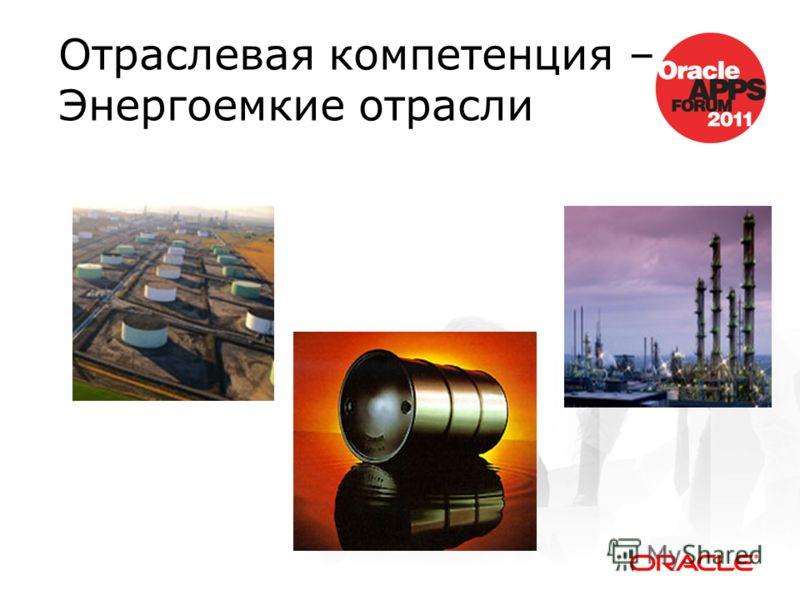 Отраслевая компетенция – Энергоемкие отрасли