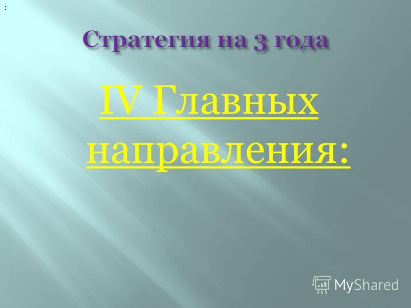 IV Главных направления: :