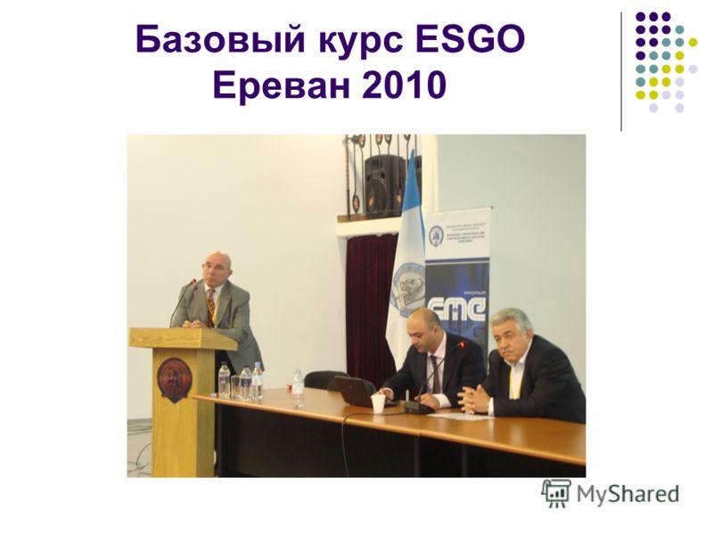 Базовый курс ESGO Ереван 2010
