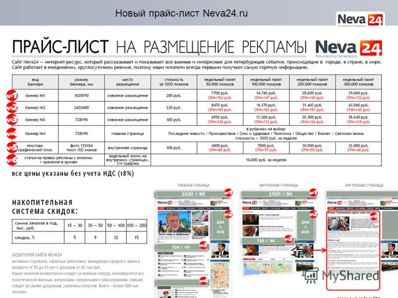 Новый прайс-лист Neva24.ru