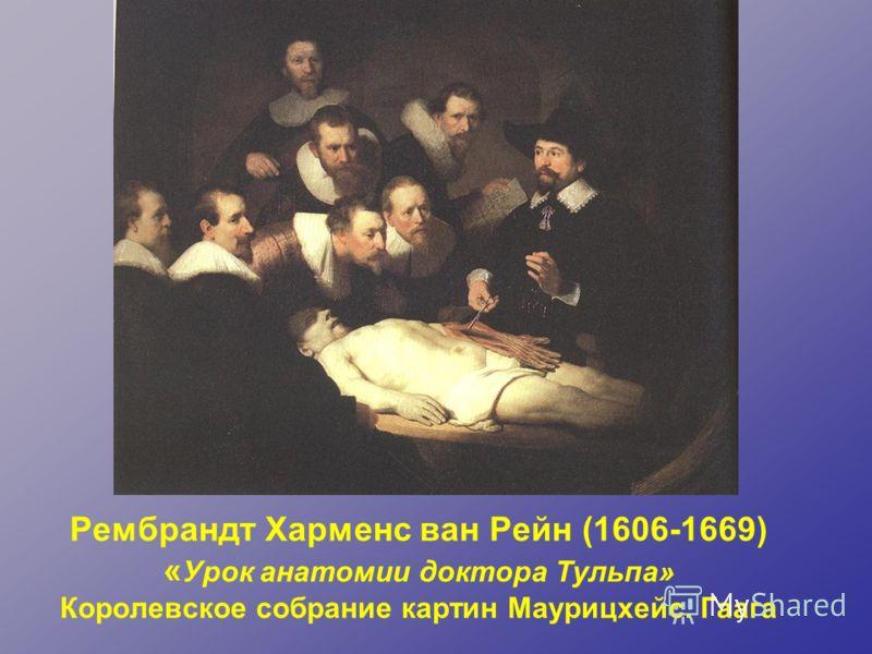 Рембрандт Харменс ван Рейн (1606-1669) « Урок анатомии доктора Тульпа» Королевское собрание картин Маурицхейс. Гаага