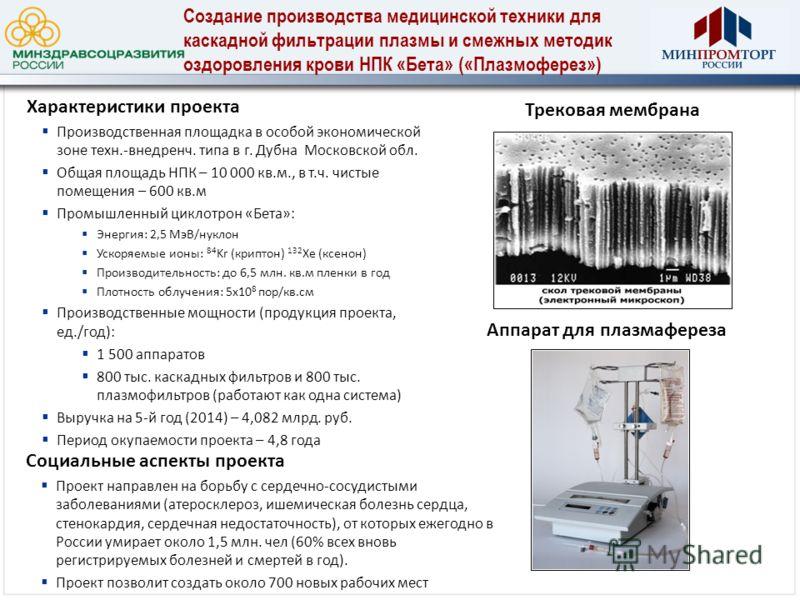 Социальные аспекты проекта Проект направлен на борьбу с сердечно-сосудистыми заболеваниями (атеросклероз, ишемическая болезнь сердца, стенокардия, сердечная недостаточность), от которых ежегодно в России умирает около 1,5 млн. чел (60% всех вновь рег