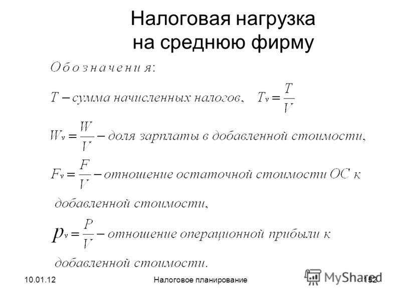 10.01.12Налоговое планирование151