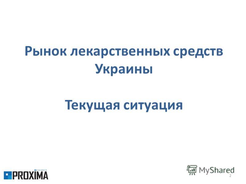 2 Рынок лекарственных средств Украины Текущая ситуация