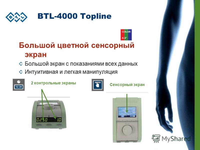 BTL-4000 Topline Большой цветной сенсорный экран Большой экран с показаниями всех данных Интуитивная и легкая манипуляция 2 контрольные экраны Сенсорный экран