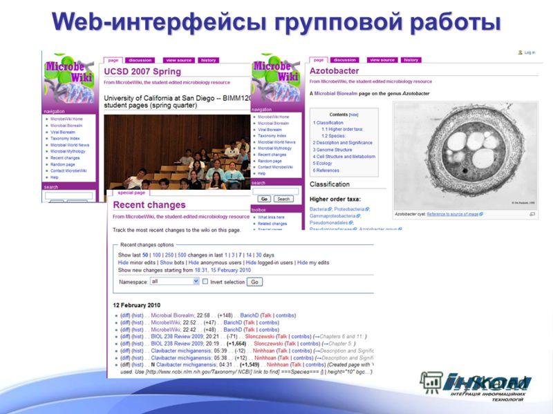 Web-интерфейсы групповой работы