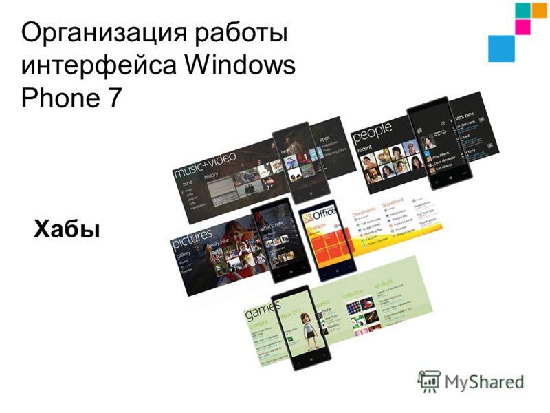 Хабы Организация работы интерфейса Windows Phone 7