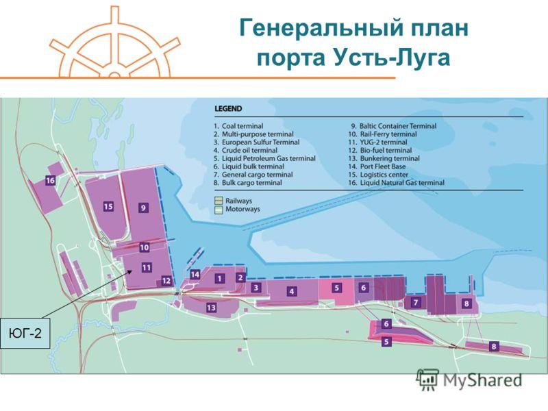 Генеральный план порта Усть-Луга ЮГ-2