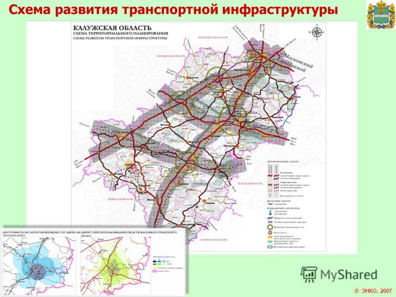 © ЭНКО, 2007 Схема развития транспортной инфраструктуры