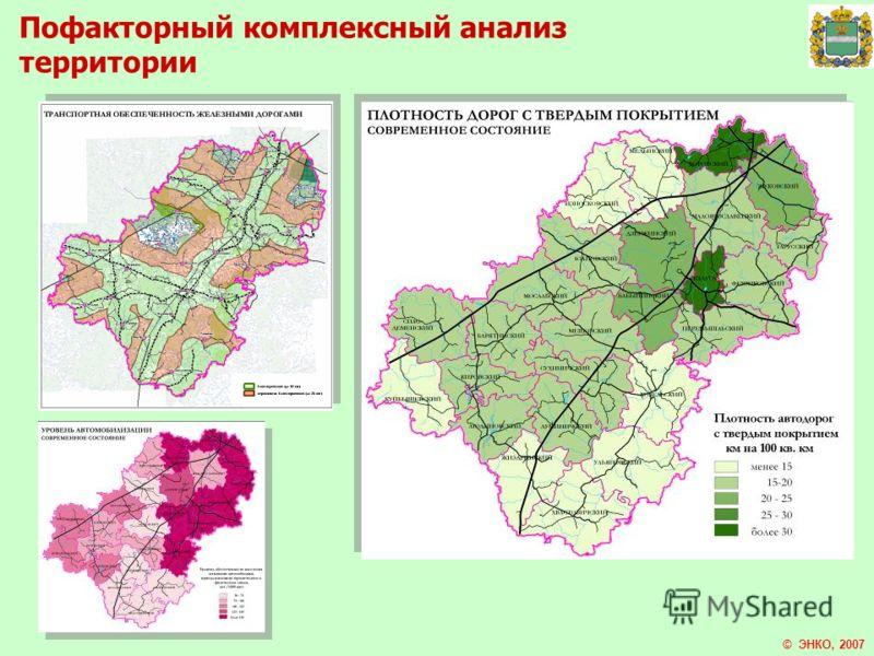 Пофакторный комплексный анализ территории