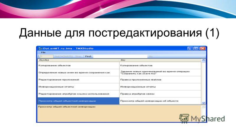 Данные для постредактирования (1)