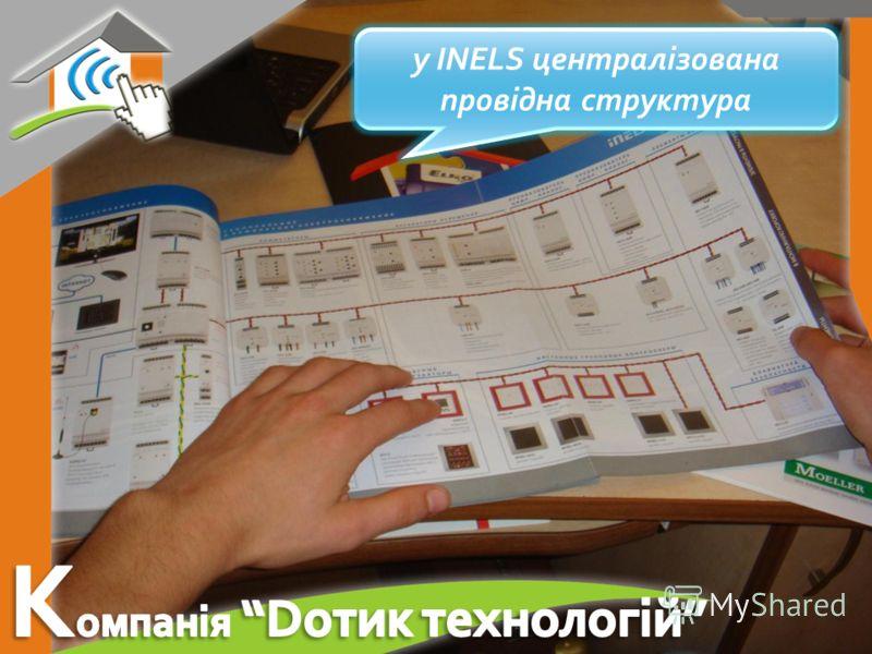у INELS централізована провідна структура