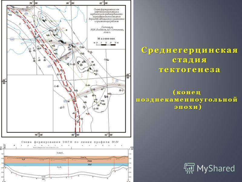 Среднегерцинская стадия тектогенеза (конецпозднекаменноугольнойэпохи)