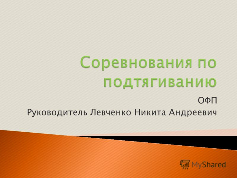 ОФП Руководитель Левченко Никита Андреевич