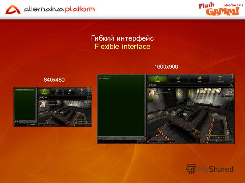 Гибкий интерфейс Flexible interface 640x480 1600x900