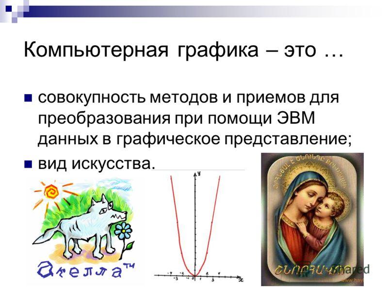 компьютерная графика презентация: