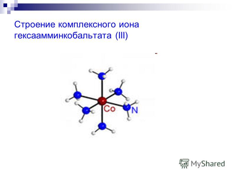 Строение комплексного иона гексаамминкобальтата (III)