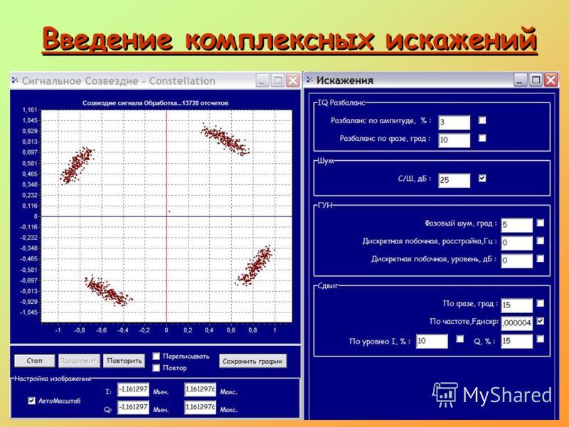 Рисунок 30 - Сигнальное созвездие сигнала QPSK с шумом и частотной ошибкой