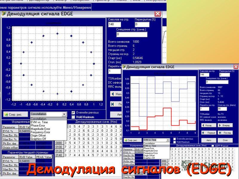 Демодуляция сигналов (EDGE)