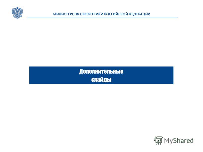Дополнительные слайды МИНИСТЕРСТВО ЭНЕРГЕТИКИ РОССИЙСКОЙ ФЕДЕРАЦИИ