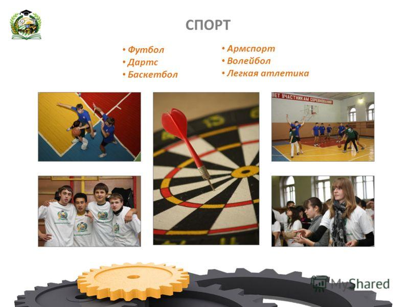 СПОРТ Футбол Дартс Баскетбол Армспорт Волейбол Легкая атлетика