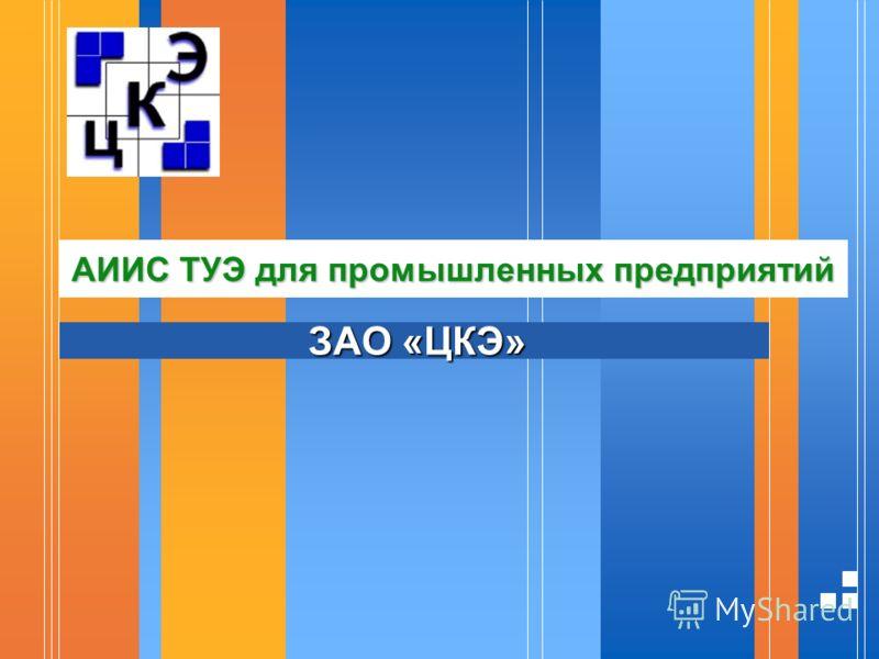 АИИС ТУЭ для промышленных предприятий ЗАО «ЦКЭ»