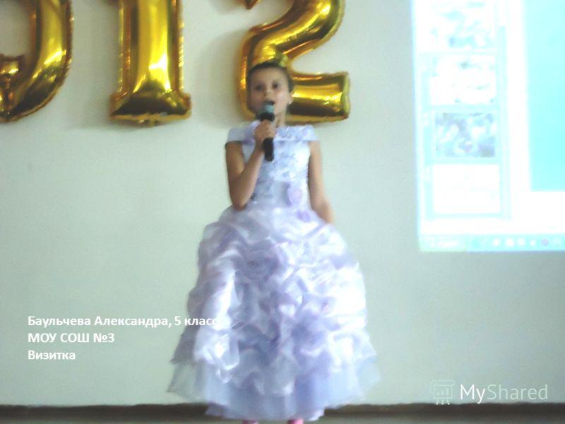 Баульчева Александра, 5 класс МОУ СОШ 3 Визитка
