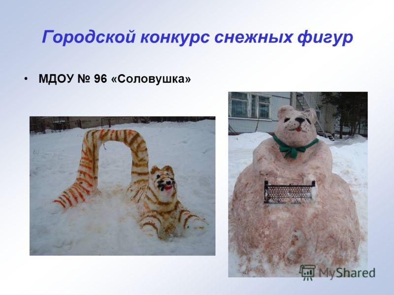 Городской конкурс снежных фигур МДОУ 96 «Соловушка»