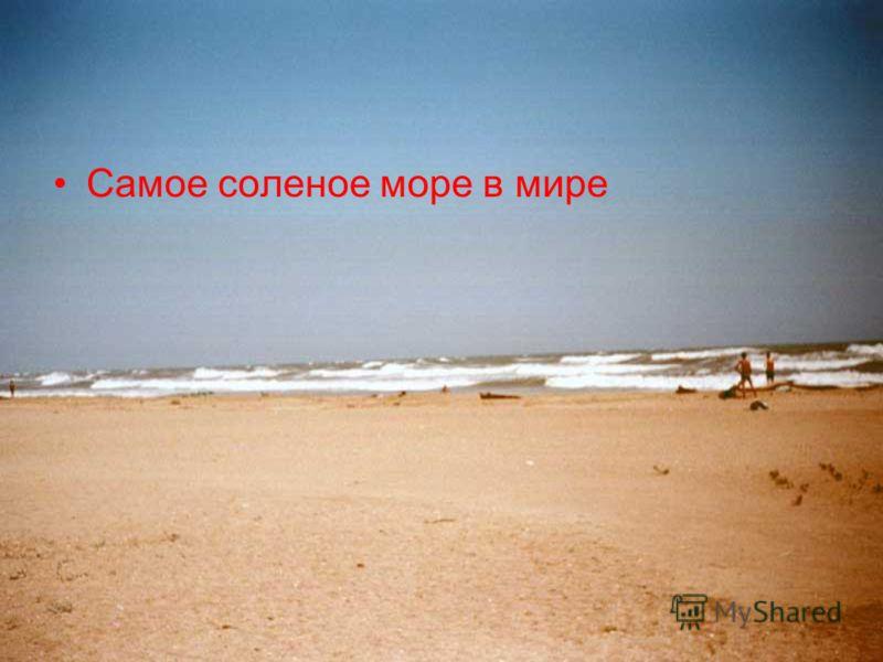 Самое соленое море в мире